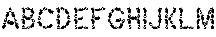 Easter Bunny Font UPPERCASE