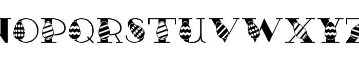 Easter Egg Font UPPERCASE