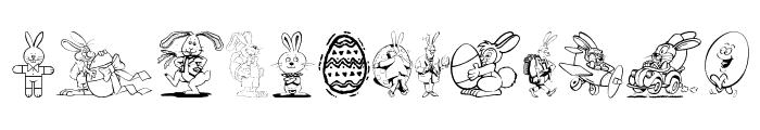Easter Hoppy Font LOWERCASE