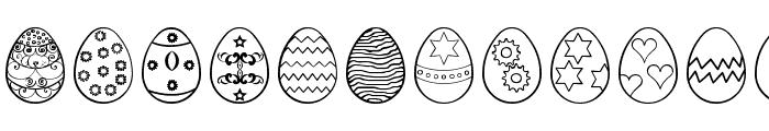 Easter eggs ST Font UPPERCASE