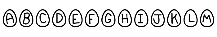 EasterFont St Font LOWERCASE