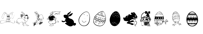 Eastereggs Font UPPERCASE