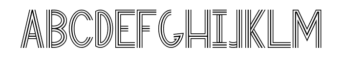 Eastern Antique 101 Font UPPERCASE
