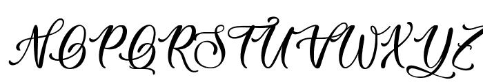 Easy November Font UPPERCASE