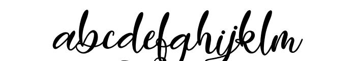 Easy November Font LOWERCASE