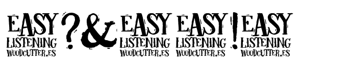Easy listening Font OTHER CHARS