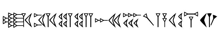 EasyCuneiform Font UPPERCASE