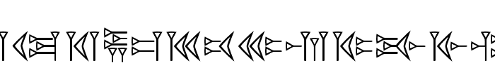 EasyCuneiform Font LOWERCASE