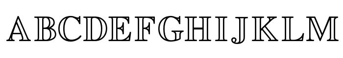 EasyOpenFace Font UPPERCASE