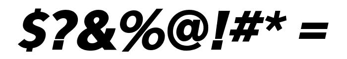 Eau Sans Black Lining Oblique Font OTHER CHARS