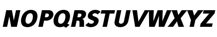 Eau Sans Black Lining Oblique Font UPPERCASE