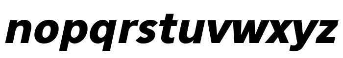 Eau Sans Black Lining Oblique Font LOWERCASE