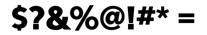 Eau Sans Black Lining Font OTHER CHARS