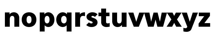 Eau Sans Black Lining Font LOWERCASE