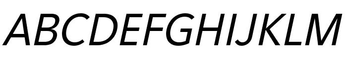 Eau Sans Book Lining Oblique Font UPPERCASE