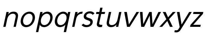 Eau Sans Book Lining Oblique Font LOWERCASE
