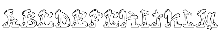 Eazy Font UPPERCASE