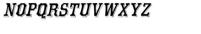Eastside Oblique Font LOWERCASE