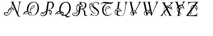 Easy Egmontian Regular Font UPPERCASE