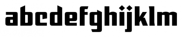 EARTH A.D. Extended Regular Font LOWERCASE