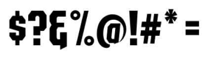 EARTH A.D. Octagonal Regular Font OTHER CHARS
