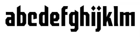 EARTH A.D. Octagonal Regular Font LOWERCASE