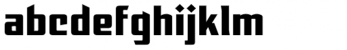 EARTH A.D. Extended Font LOWERCASE
