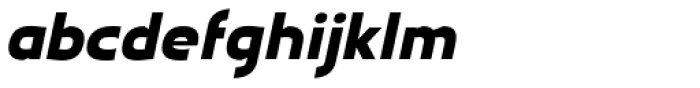 Earthman Ext Heavy BB Italic Font LOWERCASE