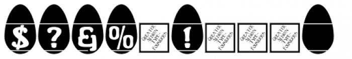 Easter Egg Letters Font OTHER CHARS