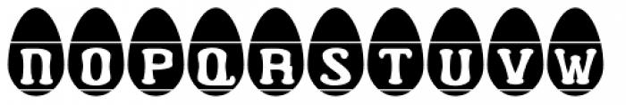 Easter Egg Letters Font UPPERCASE