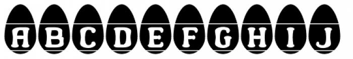 Easter Egg Letters Font LOWERCASE