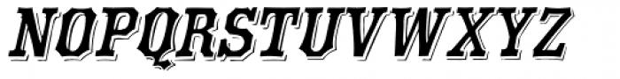 Eastside Oblique Font UPPERCASE