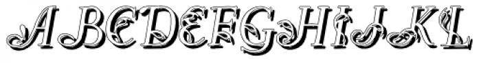 Easy Egmontian Shadow Font UPPERCASE