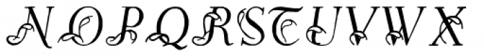 Easy Egmontian Font UPPERCASE
