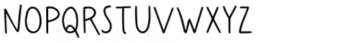 Easy Hand Semibold Font UPPERCASE