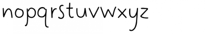 Easy Hand Semibold Font LOWERCASE