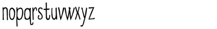 Eatwell Skinny Font LOWERCASE