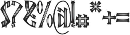 Ebbarus Scratched Regular otf (400) Font OTHER CHARS