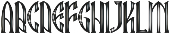 Ebbarus Scratched Regular otf (400) Font UPPERCASE