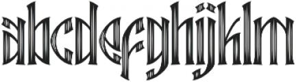Ebbarus Scratched Regular otf (400) Font LOWERCASE
