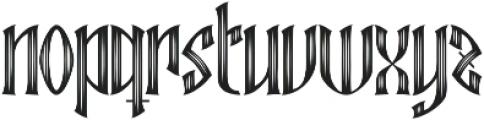 Ebbarus Scratched Regular ttf (400) Font LOWERCASE