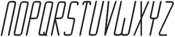 Ebdus Heavy Italic otf (800) Font UPPERCASE
