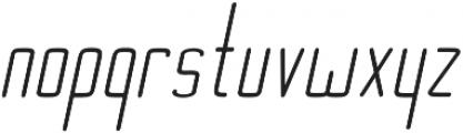 Ebdus Heavy Italic otf (800) Font LOWERCASE