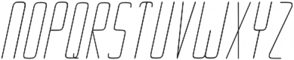 Ebdus Light Italic otf (300) Font UPPERCASE