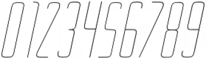 Ebdus Thin Italic otf (100) Font OTHER CHARS