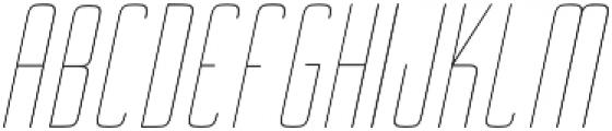 Ebdus Thin Italic otf (100) Font UPPERCASE