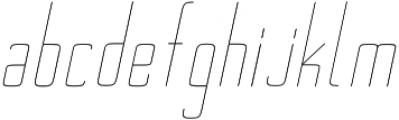Ebdus Thin Italic otf (100) Font LOWERCASE