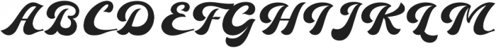 Ebullience otf (400) Font UPPERCASE