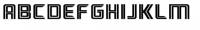 Ebtekar Pro Inline Font UPPERCASE