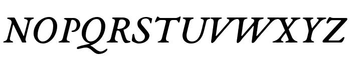 EB Garamond 08 Italic Font UPPERCASE